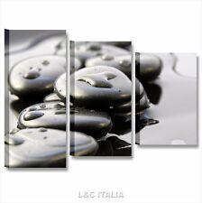 Zen stone 5 - QUADRI MODERNI CENTRO BENESSERE ARREDAMENTO CASA SPA ESTETICA TELA