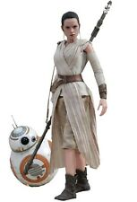 Star Wars 7 VII Hot Toys Rey 28 Cm Figure 1/6 Bb-8 Bb8 BB 8 Robot Droid 2-pack 1