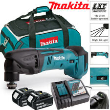 Makita DTM50Z 18 V Oscilante Multiherramienta Con 2 X 4Ah BL1840, DC18RC y LXT400 Bolsa