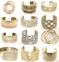 Women's Cuff Bangle Plated Gold Bracelet Trendy Jewelry Exquisite Vintage Styles