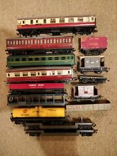 12 Hornby TRIANG Lima Coaches & Wagons - 00 gauge - spares/scrap box