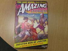 SKELETON MEN of JUPITER in Amazing Stories February,1943  Burroughs, Edgar Rice