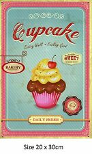 Cupcake Tin Metal Sign  Made In China Unlicensed 20 x 30 cm