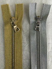 Riri Zip, LUREX (SILVER OR GOLD) Tape, M8 Teeth 100cm Long, Open Ended BRAND NEW