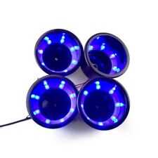 4PCS Black Plastic Cup Drink Holder With Blue 8LED Lights Boat Car Truck Camper