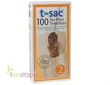 Teefilter mit Lasche, Filtertüte, Papierfilter Gr.2 t-sac