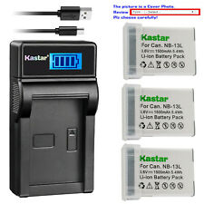 Kastar Battery LCD USB Charger for Canon NB-13L CB-2LH Canon PowerShot SX720 HS