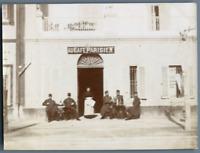Tunisie, La Goulette (حلق الوادي), Le Café Parisien Vintage citrate print. Photo