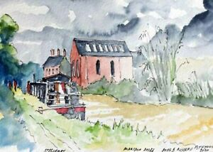 Marston Doles Oxford Canal Watercolour Artist Doug Myers A5 PRINT 1437