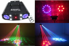 "Ibiza Laser Lichteffekt ""COMBO-3IN1""  Moonflower Laser Stroboskop musikgesteuert"