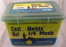 "Betts 25-4 4 Ft. Pro Series 1/4"" Mesh Cast Net 12938"