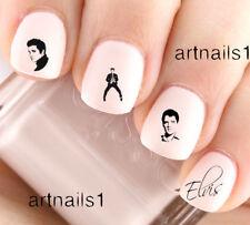 Elvis King Nail Art Rock n Roll Water Decals Stickers Manicure Salon Mani Polish