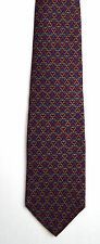 Men's New Silk Neck Tie, Classic, Red chain design by Burt Pulitzer