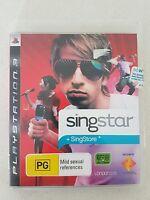 SINGSTAR + SINGSTORE - PLAYSTATION 3 GAME PS3