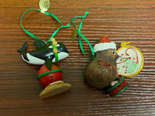 Danbury Mint the baby animal ornaments Orca & Kiwi