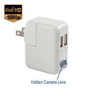 SpygearGadgets® 1080P HD USB AC Wall Charger Hidden Spy Camera / Nanny Cam 32GB