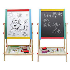 Kids Wooden Adjustable Drawing Art Writing Board Easel 2 IN 1 Black/White 69cm