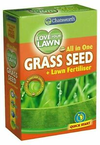 All In One Love Your Lawn Quick Start Garden Grass Seed Quick Growth Fertilizer