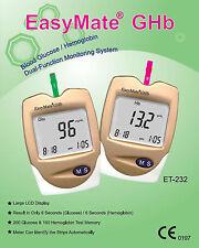Blood Glucose Monitor Kit - Also HEMOGLOBIN - NEW ITEM - RRP $139.50 - EasyMate