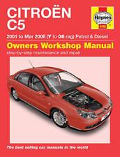 Citroen C5 2001 - 2008 Petrol Diesel Haynes Manual 4745