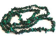 """34"""" Malachite Chip Beads 5-9mm Beads Jewellery Making"""