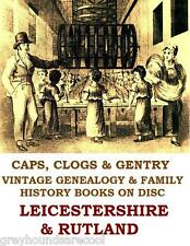 Leicestershire Rutland Parish Registers Genealogy Family Tree Research on Disc