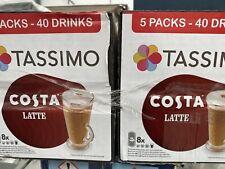 Tassimo Costa Latte T Discs Coffee & Milk Pods 2x 5 x 8 Drinks (80 Servings )
