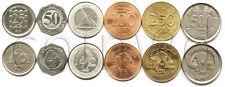 LEBANON 6 COINS SET 1996-2012 UNC (#459)