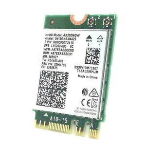 WiFi 6 BT5.1 NGFF Intel AX200NGW Dual Band WiFi Card F0N7 AU 9260NGW better J4M7