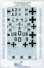 SuperScale Decals 1:48 BF-110C Zerstorers 1./ZG 76, 1./ZG 52, 1./ZG 26 #48-767