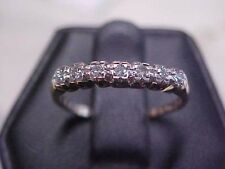 *VINTAGE*CIRCA 1953 DAINTY 7 DIAMOND WEDDING BAND-RING 14K YELLOW GOLD sz7  *NR*
