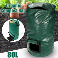80L Compost Bin Compostable Bag Garden Kitchen Organic Waste Disposal Composter