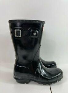 Hunter Original Short Black Nebula Rain Boots Mid-Calf Size 5