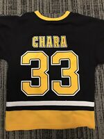 ZDENO CHARA Black BOSTON BRUINS Youth NHL Hockey Team Replica JERSEY Lrg (12-14)