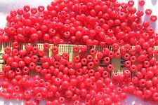 7/0 Special Size Opaque Dark Red Vintage Czech Glass Seed Beads Loose 1oz