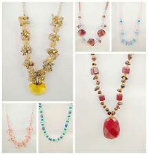 Lovely 6 Styles of Lot  Gemstone Bead Glass Bead  Necklace Pendants
