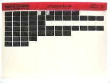 Honda ATC200M ATC200 1984 1985 Parts List Catalog Microfiche a530