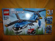 Lego CREATOR 31049 Elicottero Bi-elica 3 in 1 slitta salvataggio NUOVO 326 pezzi