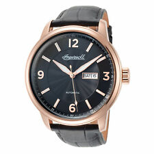 Ingersoll Men's Regent I00203 47mm Black Dial Leather Automatic Watch