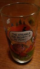 """Vintage 1983 Peanuts Camp Snoopy Collection McDonald's Glass """"The Struggle for.."""