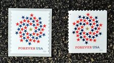 2016USA #5130-5131 Forever Patriotic Spiral - Set of 2 Singles (Coil & Booklet)