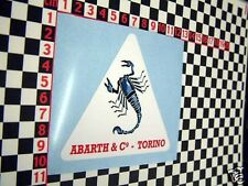 Abarth Aufkleber - Fiat 600 500 850 131 132 126 Coupe