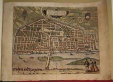 ORLÉANS FRANCE 1575 BRAUN/HOGENBERG UNUSUAL ANTIQUE ORIGINAL COPPER ENGRAVEDVIEW