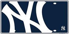 New York Yankees Mega Logo Premium Laser Cut Tag Acrylic License Plate Baseball