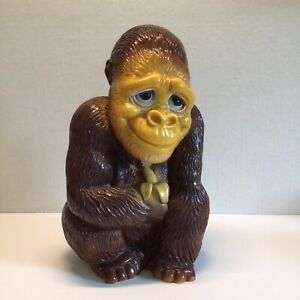 Vintage 1972 New York Prod Corp. Gorilla/Monkey Coin Bank, Very Good pre-owned