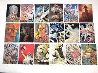 1993 BERNIE WRIGHTSON Series I Card 90 Set! FANTASY ART! ZOMBIES WALKING DEAD!