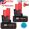 2xfor Milwaukee M12 12 Volt XC 6.0 Extended Capacity Battery 48-11-2460 4.0AH