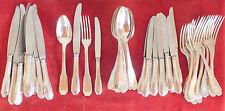 ménagère 48 pièces 24 couteaux 12 couverts métal argenté art déco