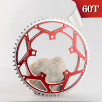MTB Road Bike Chainring 130BCD 60T Bicycle Aluminium Alloy Chain Wheel Black/Red