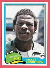 1981 Rickey Henderson Topps #261 - Oakland Athletics Basbeall Hall of Fame